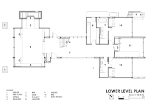 Small lower level plan