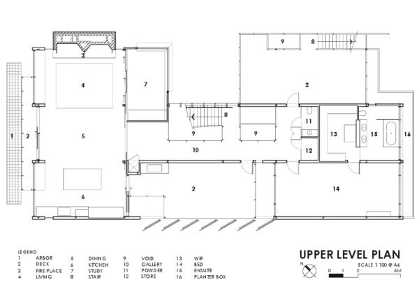 Medium upper level plan