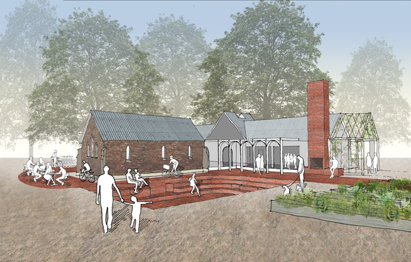 Medium spring terrace church adaption by cathi colla architects exterior ampitheatre and gathering space