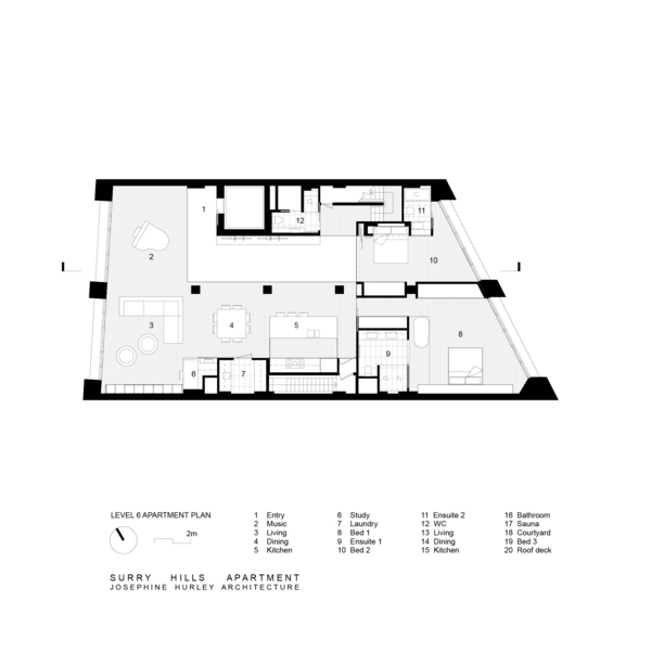 Medium level 6 apartment plan