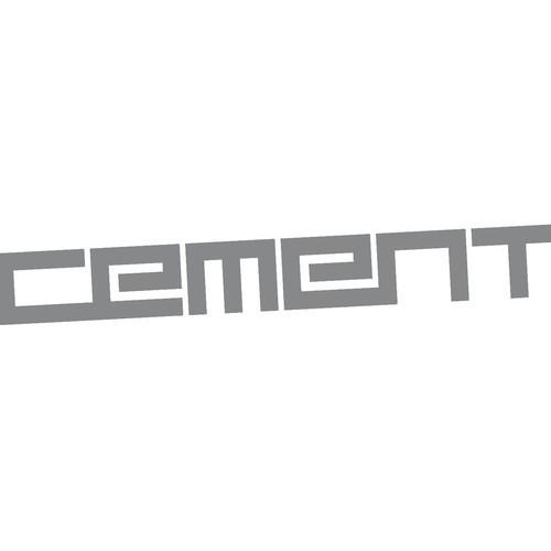 Logo cement schuin vierkant